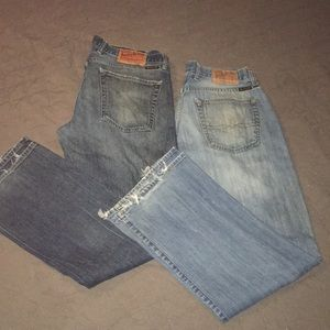 Mens Lucky brand jeans Sz 33x32 lot